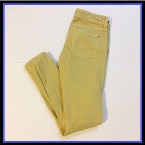 Pilcro & the Letterpress Mustard Yellow Skinny
